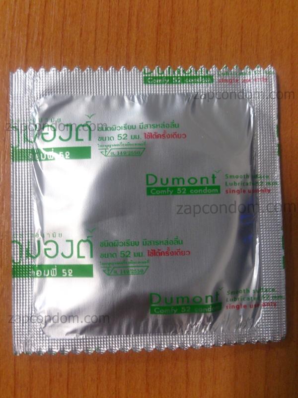 Dumont Comfy ถุงยางอนามัย ผิวเรียบ 52 มม. 1 ชิ้น