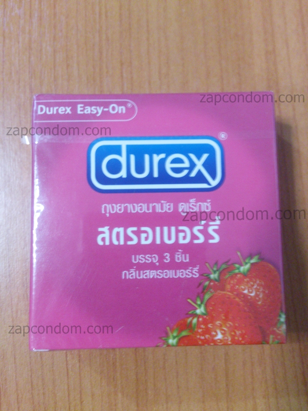 Durex Strawberry 1 กล่อง