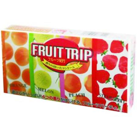 Fruit Trip 4 กลิ่น 1 กล่อง 12 ชิ้น