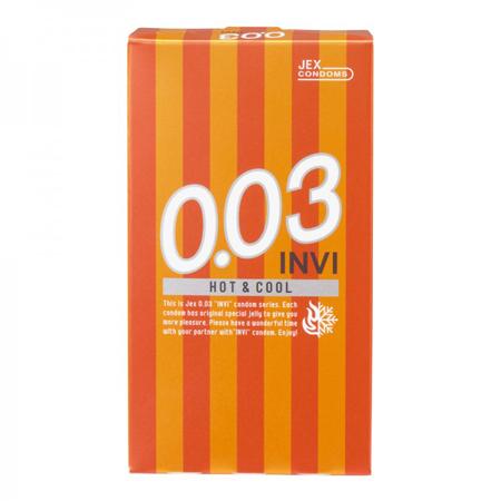 JEX 0.03 INVI Hot&Cool 1 กล่อง 8 ชิ้น