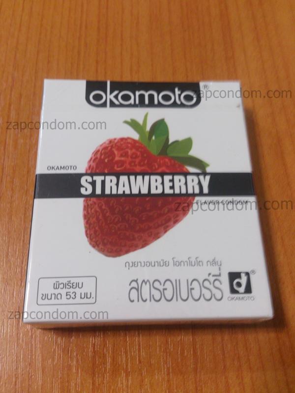 Okamoto Strawberry โฉมใหม่ 1 กล่อง